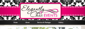 Web Design: Elegantly Chic Events